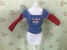 Barbie My Scene Doll Clothes Fashions Snow Man Graphic Tee Shirt Top Long Sleeve