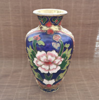 Chinese Exquisite Handmade copper Cloisonne Enamel Vase