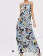 B21# Little Mistress Maxi Dress In Floral Print Size UK10