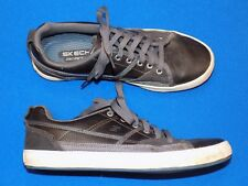 Skechers Memory Foam Mens 8 Brown Leather 62885 Skate Shoe Sneakers Used