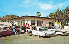 Ft Lauderdale FL Little Palace Car Hops Drive-In Restaurant Old Cars Postcard