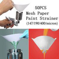 10X 100//120//140//200 Micron Paper Nylon Paint Strainer Filter Straining Cup  LA