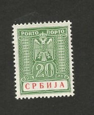 GERMANY OCC SERBIA-MH-STAMP-POSTAGE DUE 20 d - 1942..