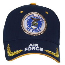 Ha-Lls-Laurel-Leaves-Airforce-Blue-Cap Béisbol Militar Gorra. El ... 488eb144ecc