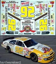 NASCAR DECAL #92 LEVI GARRETT 2001 DODGE R/T STACY COMPTON WETWORKS