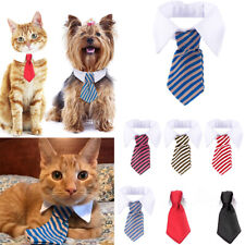 Pet Dog Cat Bow Tie Bowknot Puppy Dickie Necktie Necklace Collar Neck Accessory