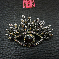Betsey Johnson Multi-Color Rhinestone Lovely Eyes Charm Woman Brooch Pin