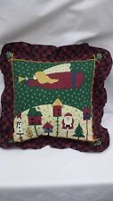"Christmas Angel Folk Art   16"" Throw Pillow"