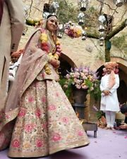lehenga choli Indian bridal womens wear bollywood heavy embroidery anushka dress
