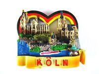 Köln Dom Cologne Rhein 3D Poly Fridge Magnet Herz Souvenir Germany Deutschland .