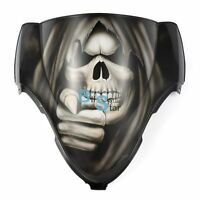 Airbrushed WeWantYou Skull Windscreen Windshield For Suzuki Fairing motorcycle