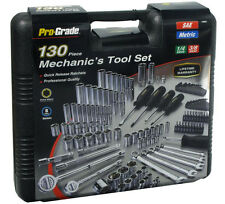 130pc Mechanic Mixed Tool Set, Wrenches, Sockets, Ratchets, Driver 1/4, 3/8 Dr.