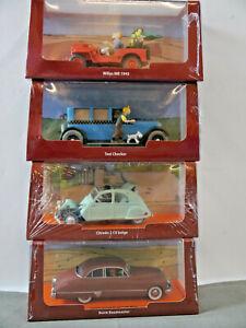 Tim & Struppi Tintin 4 X Car Willys Taxi Citroen Buick 1/43 Atlas New K34