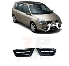 FOR RENAULT SCENIC 2006 - 2009 NEW FRONT BUMPER UPPER CENTER GRILLE BLACK PAIR