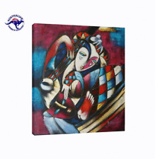 EXTRA LARGE 'THE JESTERS TEARS' HUGE OIL PAINTING CUBISM STYLE