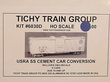 Tichy Ho D&H Usra Ss Cement Conversion Boxcars , 6 car Bulk Pack 6030d
