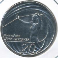 Australia, 2007 Twenty Cents, 20c, Elizabeth II (Lifesaver) -Choice Uncirculated