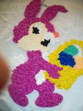 Easter Bunny Popcorn Decoration 22 In High Pink Color