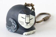 Lisa Larson Collectible Sleeping Cat PVC Keychain Key Ring