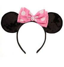 Disney Store Pink Polka Dot Minnie Mouse Ears Headband Kids Adult Dress Up Gift