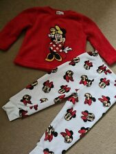 Baby Girls Fluffy Minnie Mouse Pyjamas 12-18 Months Primark