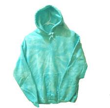 HOODY Size SMALL TURQUOISE BLUE Hand-dyed TIE DYE Hooded Sweatshirt GILDAN