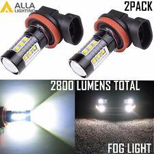 Alla Lighting 2x80W-LED H11 H8 Xtremely Super White 6000K Fog Driving Light Bulb