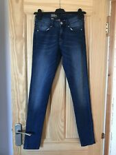 H&M Dark Blue Denim Superskinny Regular Waist Jeans 6