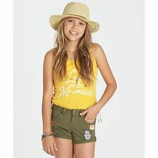 2017 NWT GIRLS BILLABONG SEA AND ME SHORTS $45 10 canteen green patched