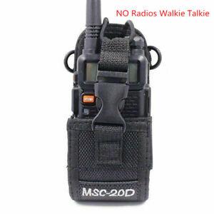 MSC-20D Nylon Pouch Bag Holster Carry Case For BaoFeng UV-5R UV-9R BF-888S Radio