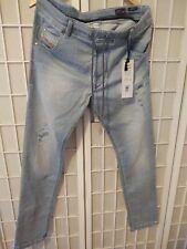 NWT $398 Diesel Men's Jeans Krooley Sweat Jeans Jogg Denim Blue Sz Tag 34 #8