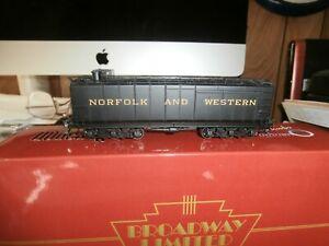 BROADWAY LIMITED HO SCALE  AUXILIARY WATER TENDER-N & W-160004 ( SOUND )