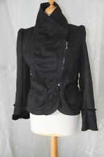 CREATIVE BY -  Veste Bahira Imitation cuir  Noir taille 42 neuf