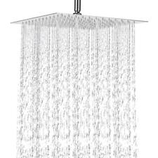 """Hot 8"""" Inch (20Cm) Stainless Steel Ultra Thin Rain Shower Head Faucet Nickel"""