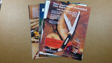 1989-91 SCHRADE CUTLERY  IMPERIAL ADVERTISEMENTS LOT OF 11 SINGLE PAGE ADS