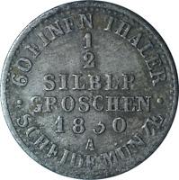 Germany Prussia Friedrich Wilhelm III 1/2 Silber Groschen Coin 1830 A, GF
