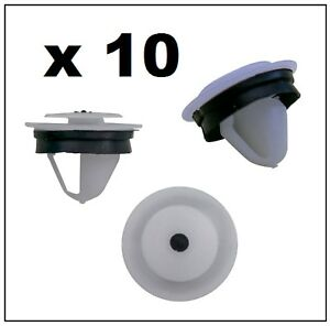 10 x SLIDING DOOR TRIM RAIL FASTENER CLIP for VOLKSWAGEN CADDY & TRANSPORTER T5