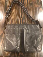Hugo Boss Crossbody Shoulder Black Full Genuine Leather Messenger Bag Laptop Zip