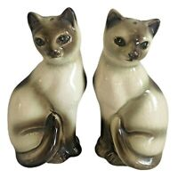 Vintage Siamese Cat Salt And Pepper Shakers Japan
