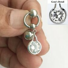Gorgeous Gem VCH HEAVY BALL Piercing Barbell for EXTRA PRESSURE.