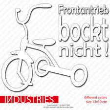 Frontantrieb bockt nicht  -Sucks  Aufkleber Fun Sticker (Cult Shocker OEM JDM)