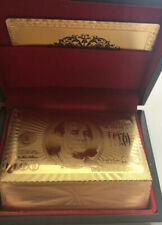 999.9 Gold Playing Cards 24 Carat Gold 52 Poker Cards + 2 Jokers Fast Ship