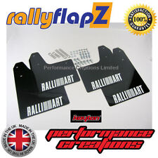 Rally Mudflaps Mitsubishi Evo 5 & 6 Mud Flaps Black Ralliart White - Kaylan PU