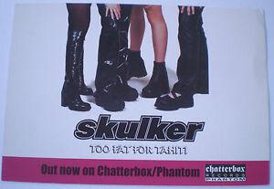 "SKULKER - ""TOO FAT FOR TAHITI"" - Original 2003 AUSTRALIAN  PROMO POSTCARD"