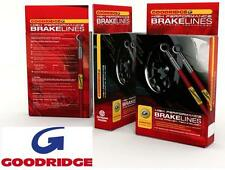 Goodridge stainless braided brake hoses to fit BMW 3 series E30 316 318 320 325