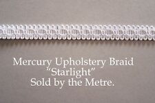 "White Upholstery Braid ""Mercury Starlight"" 15mm wide (sold by the Metre)"