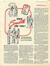 1944 How Smooth Are You? Magazine Article on Good Manners, How Do I Rate?