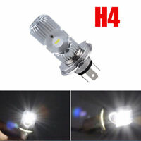 DC 12V Motorcycle LED H4 HS1 Hi Lo COB Light Headlight Bulb Lamp 6500K