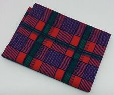 222c8fdbc38 Single Fabric Fat Quarter - Quilting - Crafts - Red Blue Green Check
