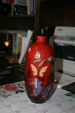 Royal Doulton Figurine Entitled Guilin Butterfly Vase, Flambe, Ba82